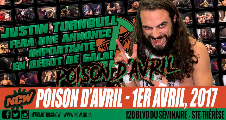 Jamais 2 sans 3 pour Justin Turnbull! #lutte #wrestling #canada #quebec #montreal #laval #rivenord #aprilfools #Championship #suicidejesus<br>http://pic.twitter.com/PX8qZdVF4i
