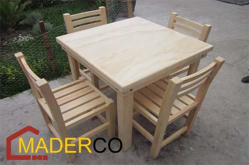 Mesas para patios comedor para jardin de madera de for Fabricantes sillas peru