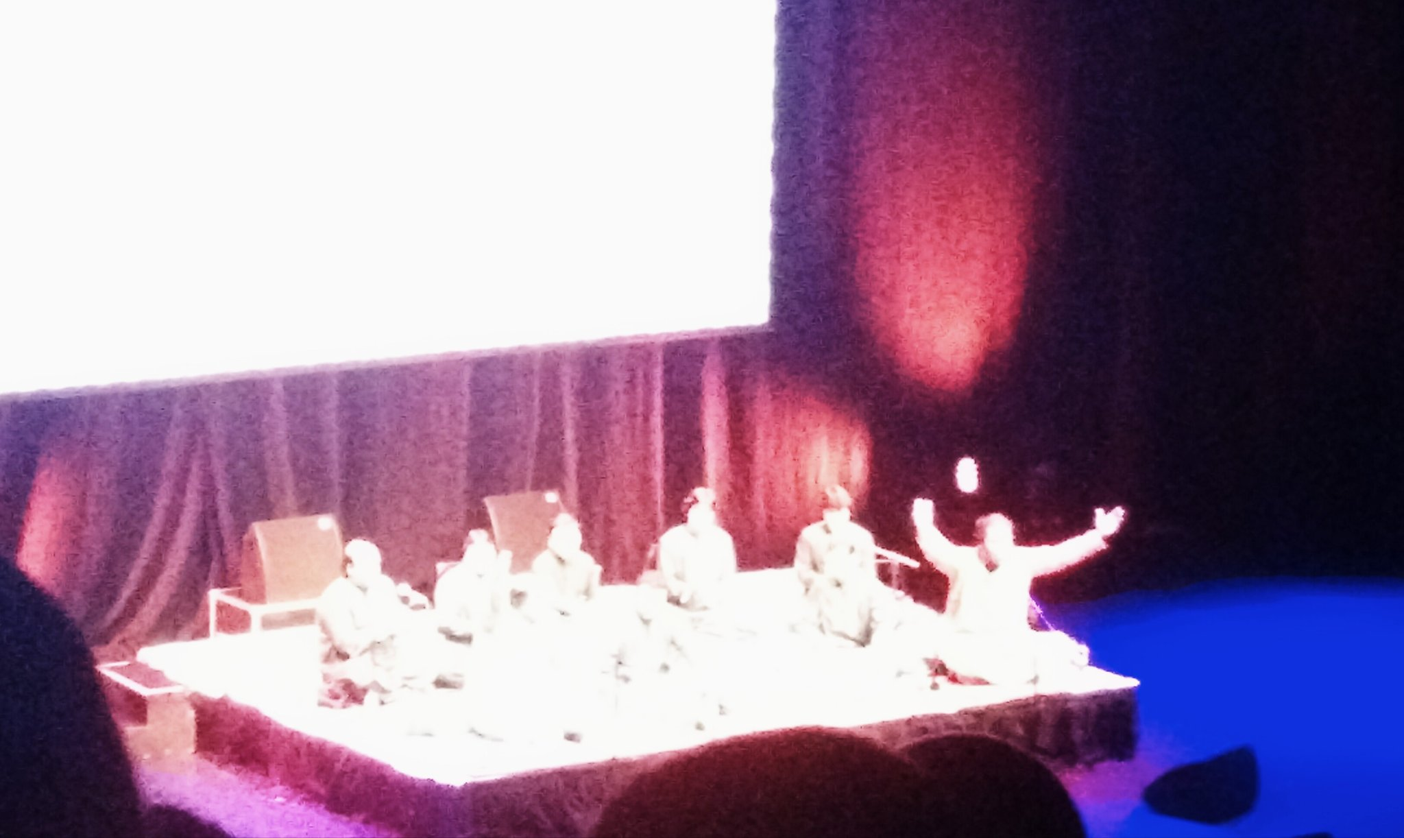 Incredible performance from brothers Rizwan & Muazzam celebrating the life of their uncle Nusrat Fateh Ali Khan @BarbicanCentre #Goosebumps https://t.co/QjHbEjEN4v