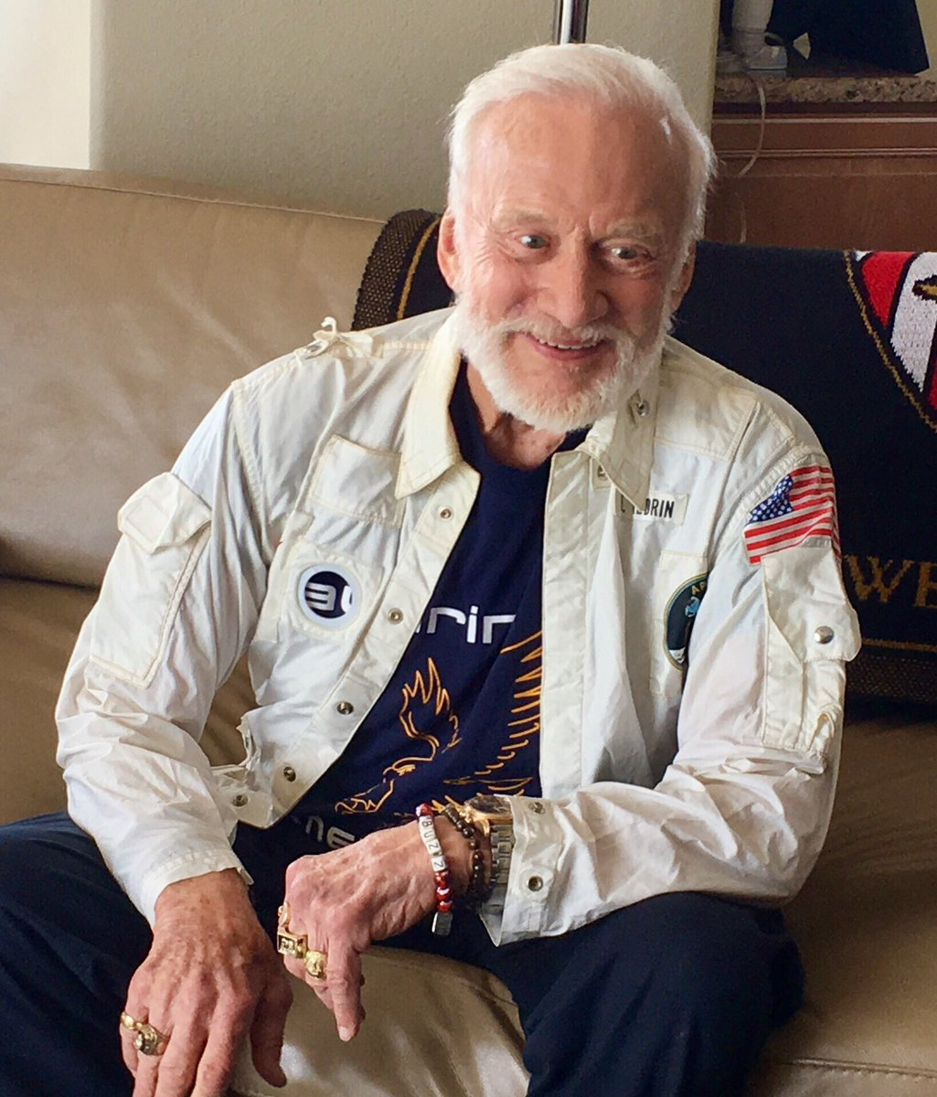 I haven't worn this jacket since I returned from the moon almost 48 years ago. Still fits!  #Apollo11 https://t.co/njtDEhDj9v