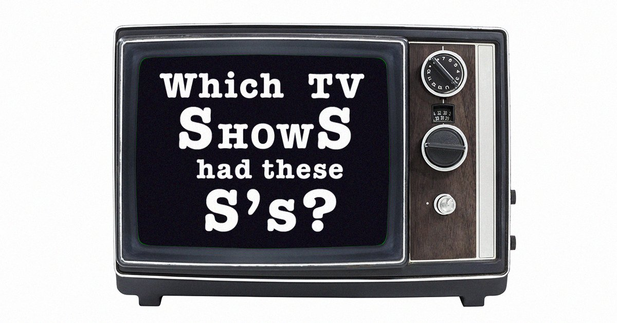 A true TV expert can identify these shows by the 'S' alone https://t.c...