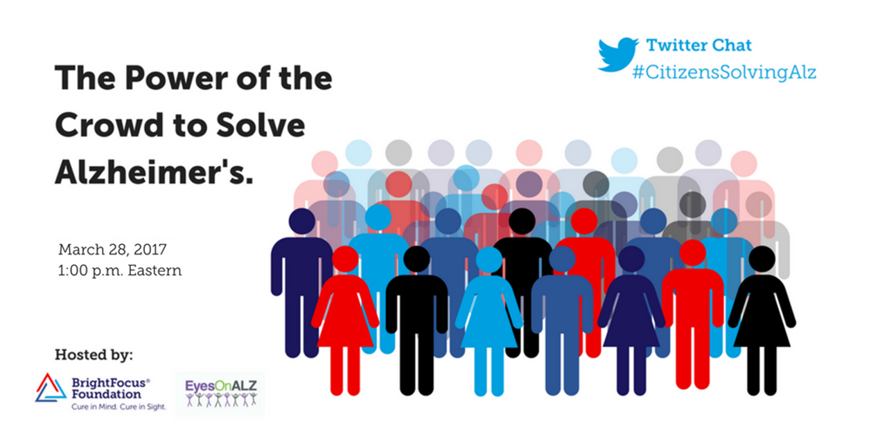 YOU can change the future of #Alzheimers. Voice your thoughts at the #CitizensSolvingAlz Twitter chat tomorrow: https://t.co/fOHKPo7iE7