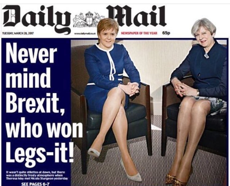 UK's Daily Mail Focuses on Women's Legs Over Policy Ideas