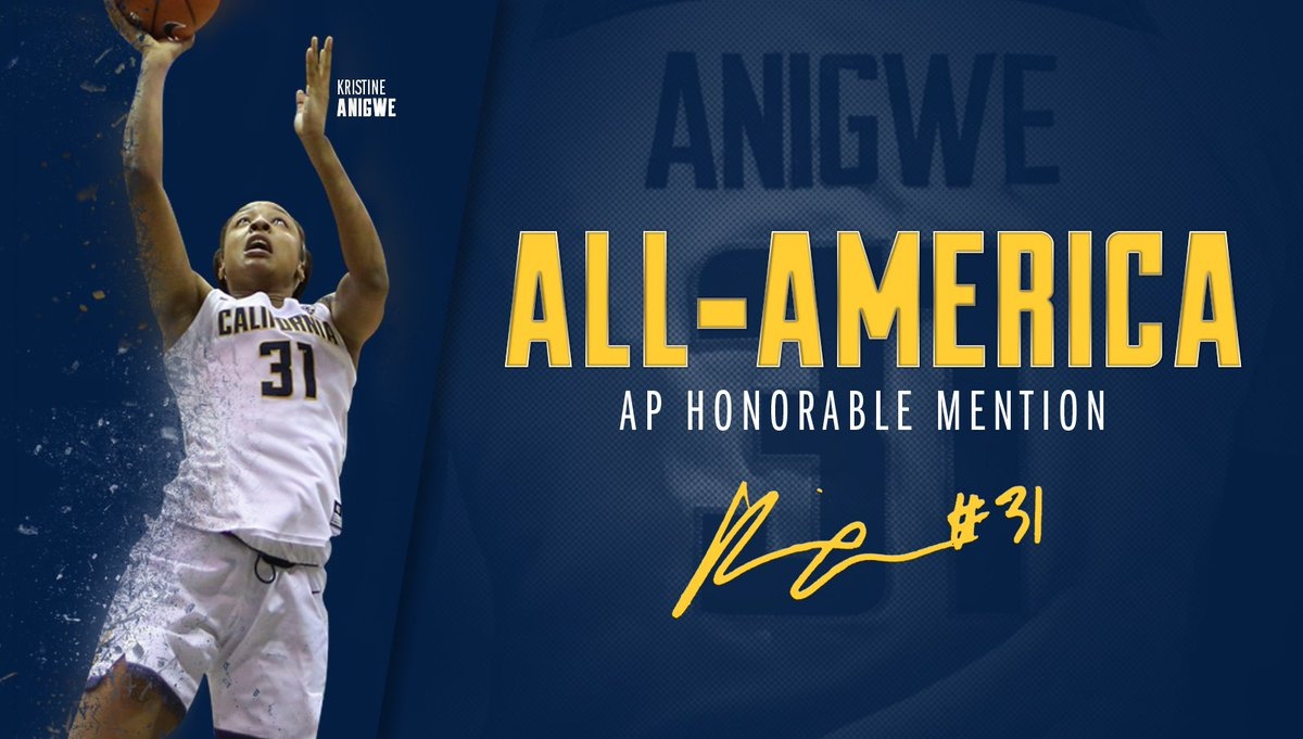 ICYMI: @KristineAnigwe is an AP All-American 🐻💪 Congrats!  📰: https://...