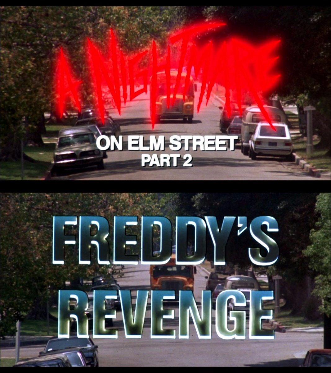 A Nightmare on Elm Street 2: Freddy&#39;s Revenge (1985) RT: 42% #freddykrueger #anightmareonelmstreet #horror #horrormovies #movietitles<br>http://pic.twitter.com/XSFjtNkOc6