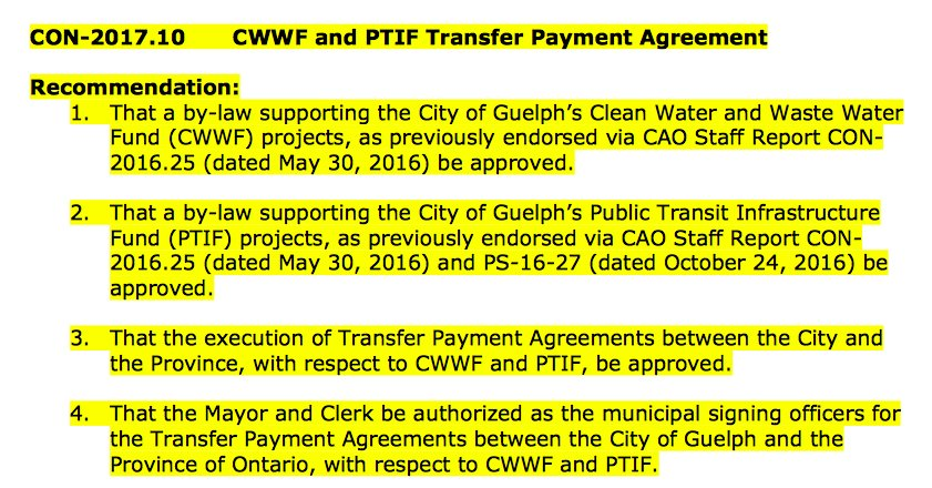 Since it's a new agenda item and wasn't discussed, here's the motion on CWWF/PTIF Transfer Payment Agreement. https://t.co/yVxxIwQbX1
