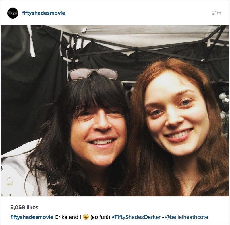 Erika with Bella Heathcote #FiftyShadesDarker #FSD #LeilaWilliams @E_L...