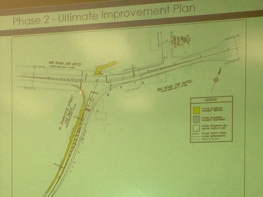 Left turn lanes would be added to both Route 73 and Route 663, says DiBiasi. https://t.co/aEoyY357Px