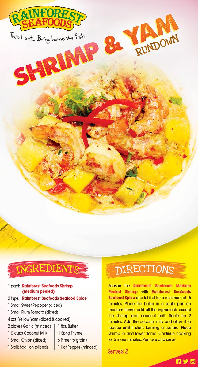 Rainforest seafoods on twitter heres a unique and delicious rainforest seafoods on twitter heres a unique and delicious jamaican rainforestseafoods shrimp recipe for you to try for lent forumfinder Choice Image