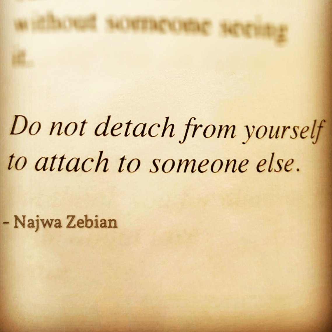 how to detach yourself from a person