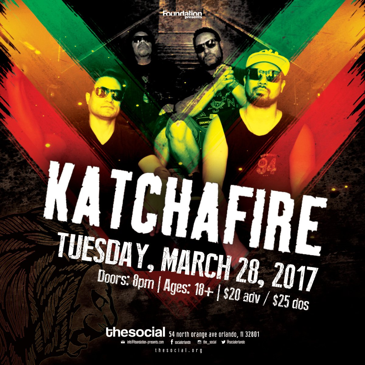 TICKET GIVEAWAY: RETWEET & WIN a pair of @katchafire tickets TOMORROW night at The Social! https://t.co/iyGBHXom2g https://t.co/HRRv69sIHs