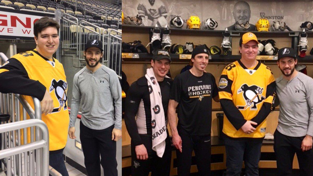 NEW | Stroke survivor Jordan Chaulk meets Pittsburgh hockey hero  http...