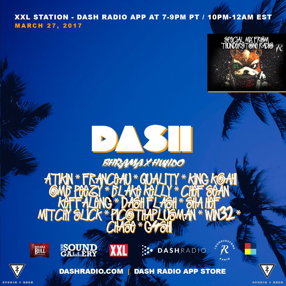 GRYNDFESTRADIO ON @DASHRADIO #XXL IS THE VOICE OF THE