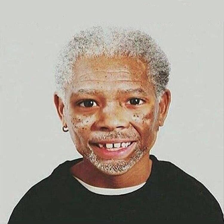 Morgan Freeman, age 8. https://t.co/N4tnJYv5Gm