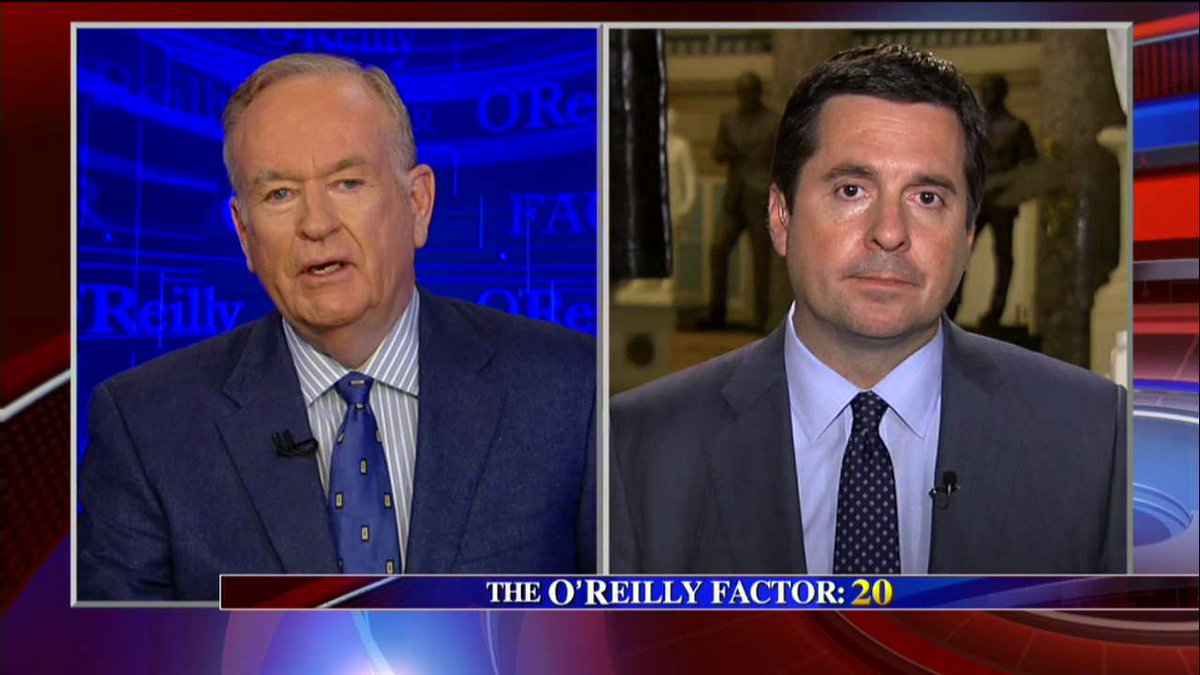 .@Rep_DevinNunes on getting intel at @WhiteHouse: &quot;There was no sneaking around.&quot; #oreillyfactor <br>http://pic.twitter.com/rYsKo7u8hy