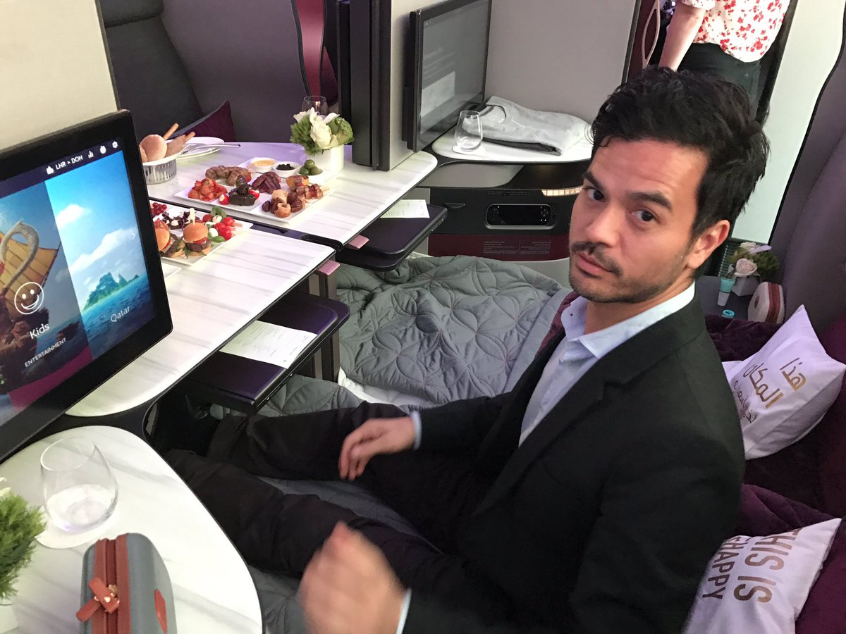 Enjoying the new Q Suite from #qatarairways #businessclass. Fond memories of ITB Berlin last week #itbberlin #thetravelcollective https://t.co/lEHaqey81h