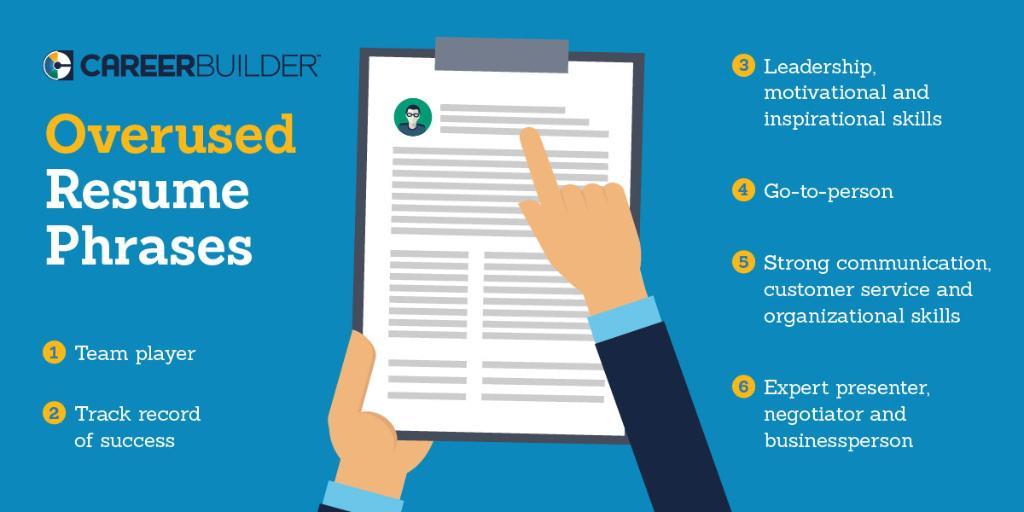 What Overused Resume Phrases >> Overused Resume Phrases Careerbuilder Diane Delgado Lemaire