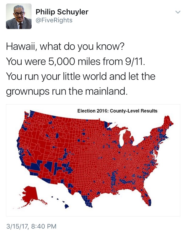 It's true, what would people in Hawaii know about being attacked