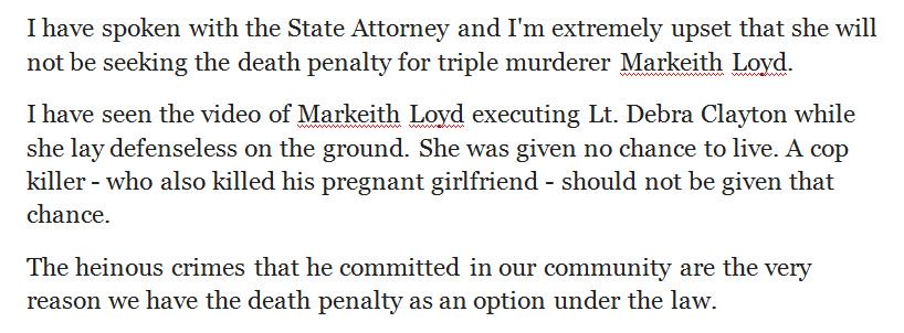 Here is a statement from @ChiefJohnMina about the State Attorney's decision regarding Markeith Loyd: https://t.co/qlvFR84Kua