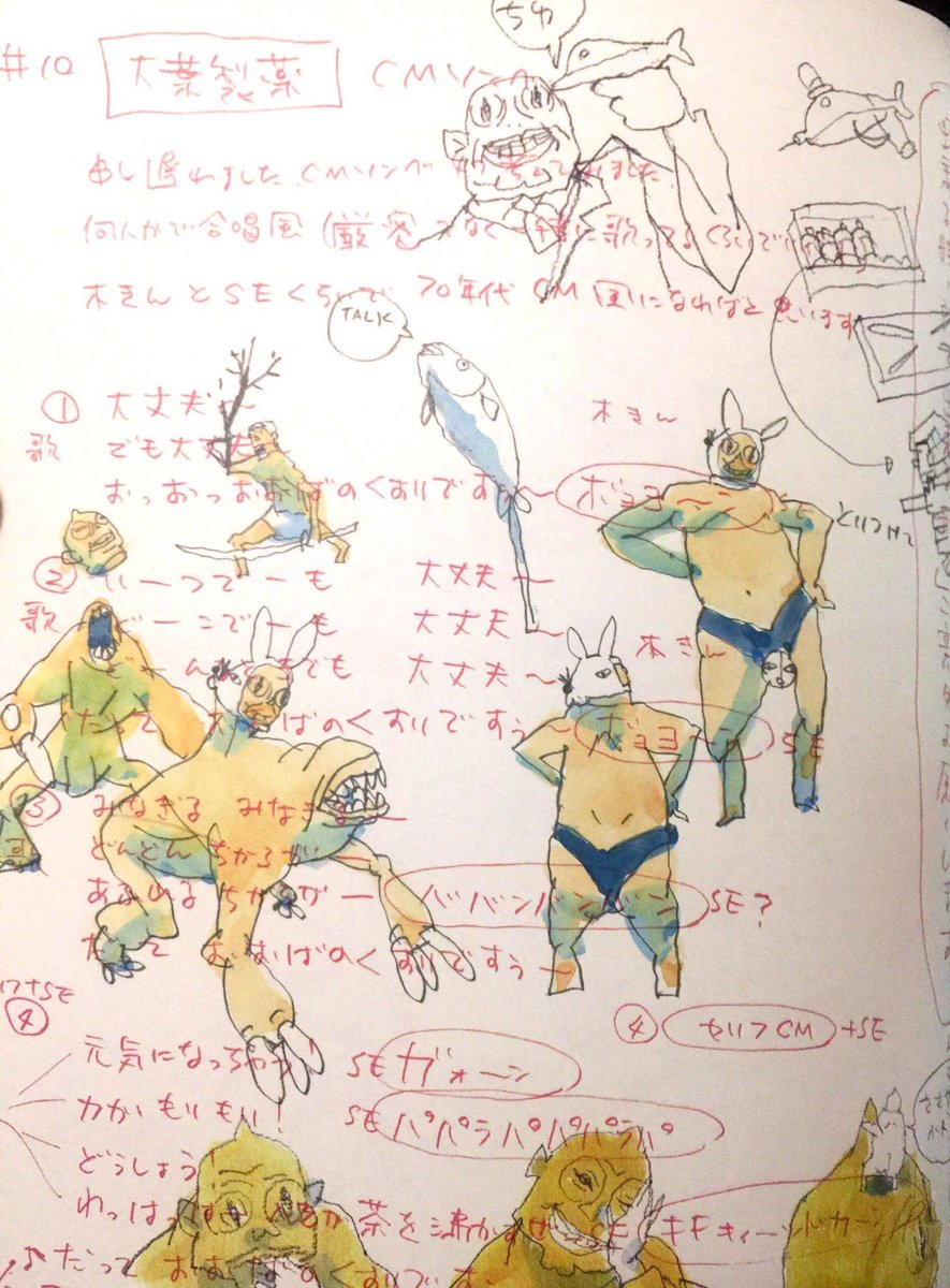 中野 on twitter 湯浅政明大全 sketchbook for animation projects