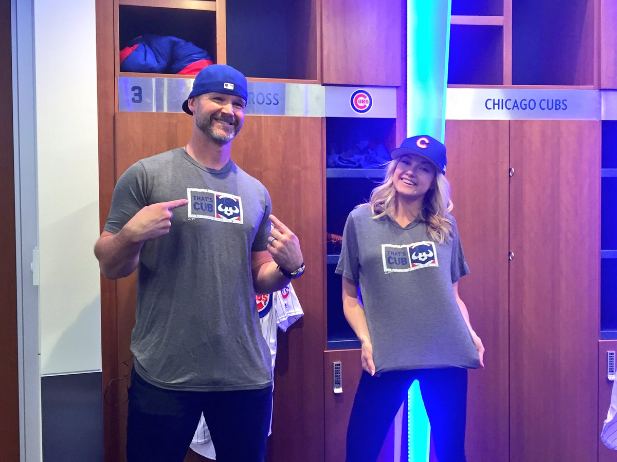 Meanwhile at #WrigleyField, @D_Ross3 and @lindsayarnold are setting a...