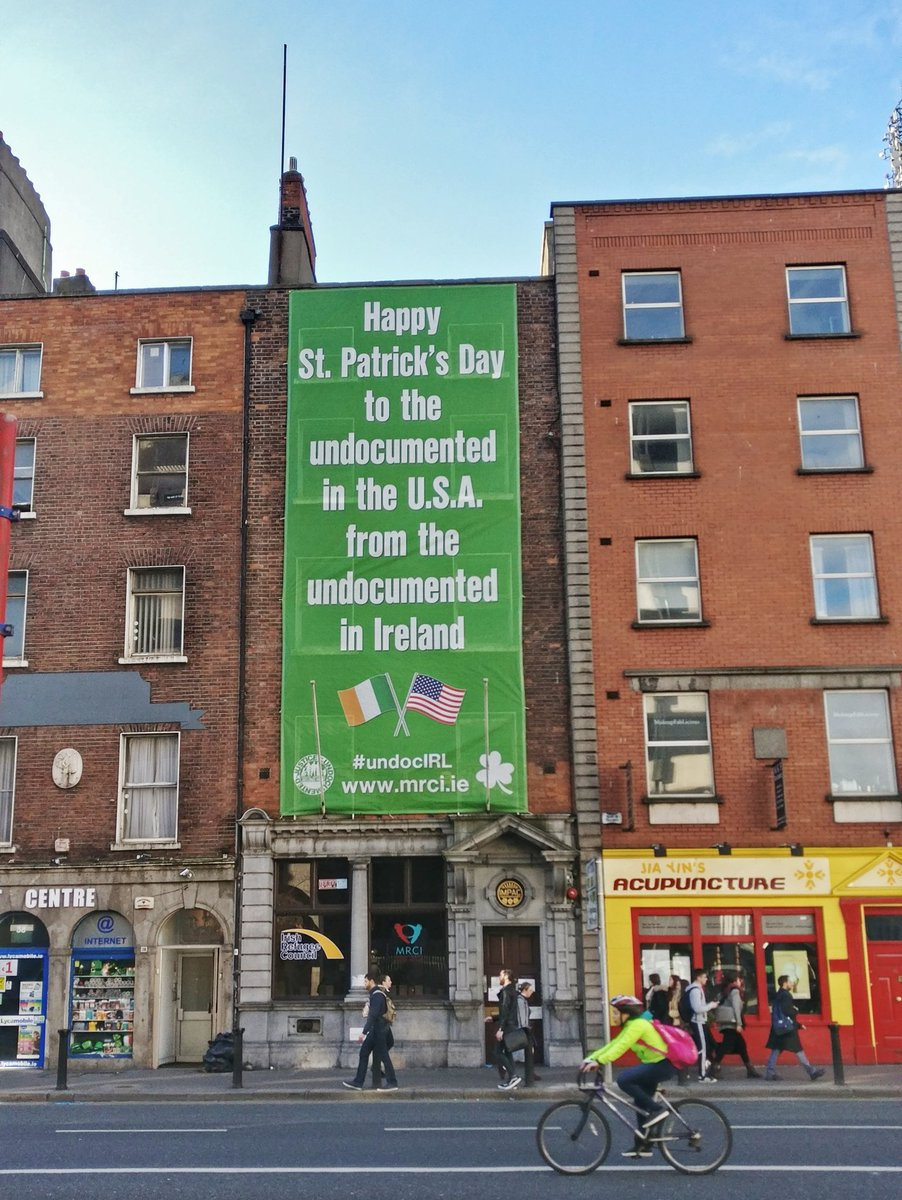 """Solidarity message. """"Happy St Patricks Day to the undocumented in the US from the undocumented in Ireland"""" #undocIRL https://t.co/rWgxlBe8OI"""