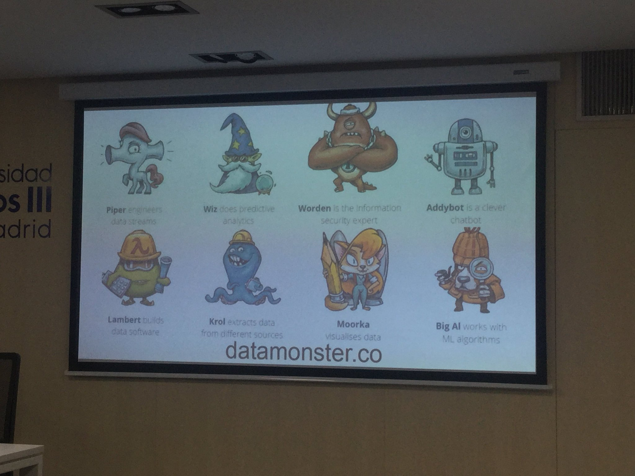 @luismart presenting his data monsters - you need a team to produce data science frameworks #EDISONMadrid https://t.co/h78OJ8oU8r