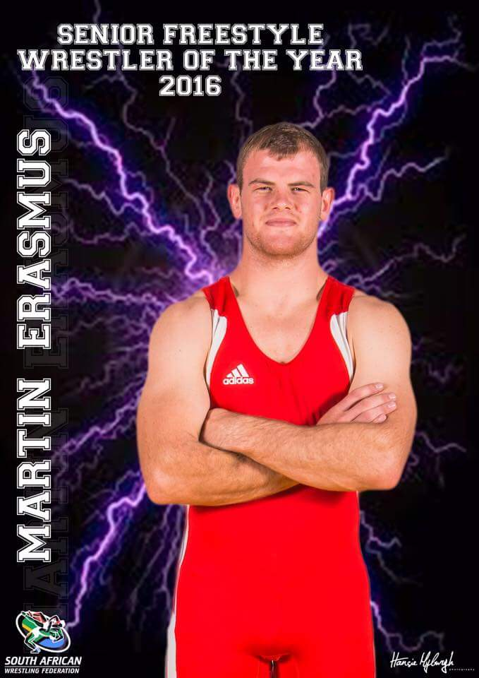 South Africa&#39;s Martin Erasmus is the 2016 Senior Freestyle Wrestler if the year!      #freestylewrestling #lutte #BrakpanWrestling<br>http://pic.twitter.com/nO6cV8EqoO