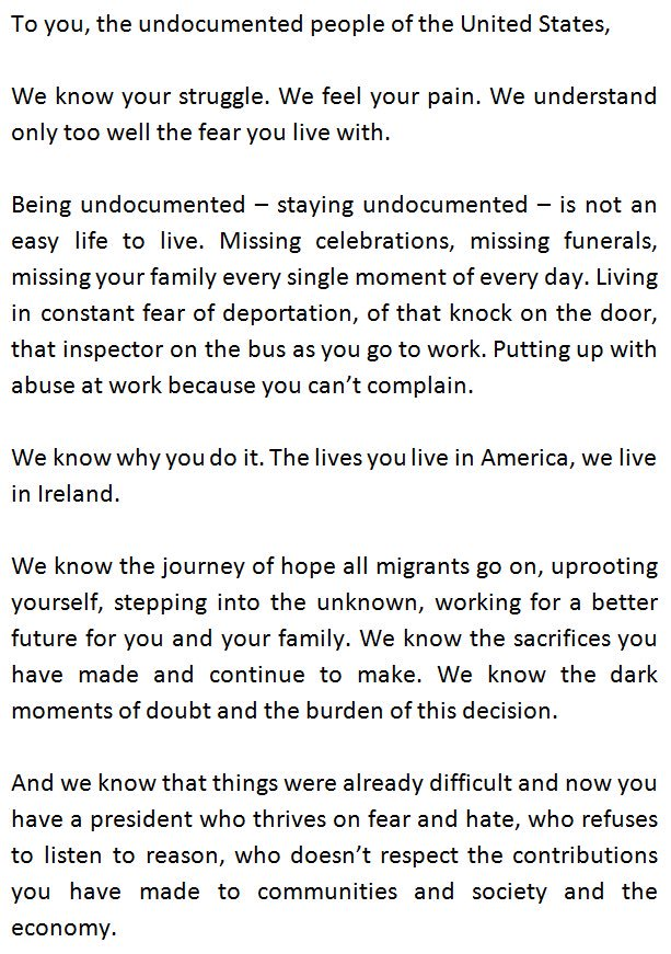 Migrant rights centre ireland on twitter now on morningireland a migrant rights centre ireland on twitter now on morningireland a letter from undocumented people in ireland to the undocumented in america undocirl solutioingenieria Images