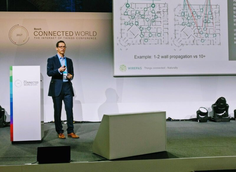 Our @RSTOKAR on stage #BCW17 - what a great show from @BoschGlobal and Rudi #IIoT #connectivity https://t.co/3gmJEsMI8s