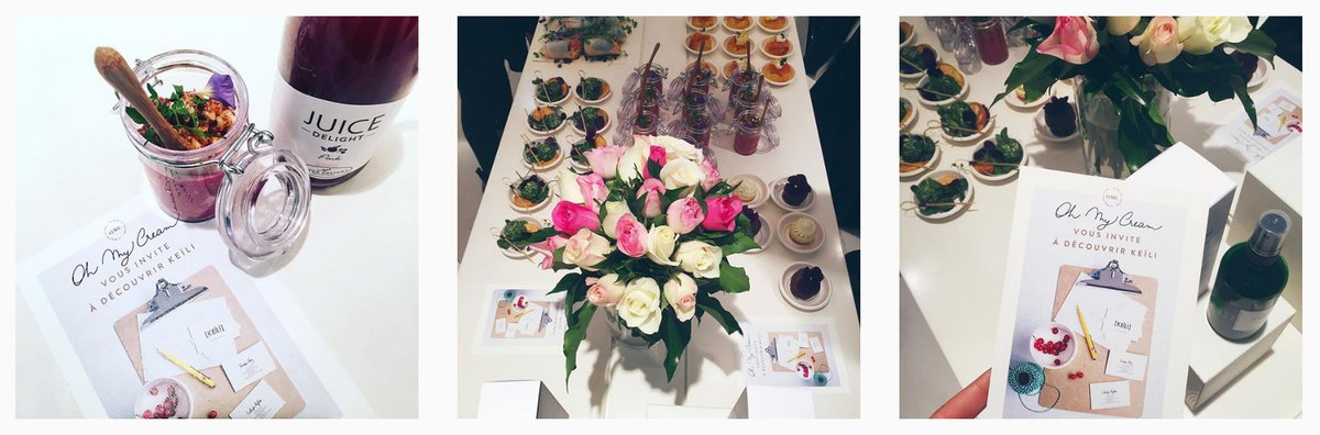 Merveilleuse table made by  http://www. keili.fr /     pour le lancement de notre collab' avec OH MY CREAM ! <3 #HealthyFood #BFMParis @RpVanesspic.twitter.com/7sV2wBaToF