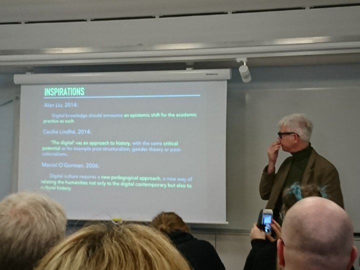#DHN2017 Epistemology, Media Archeology and the Digital Humanities https://t.co/pqguht7LSD