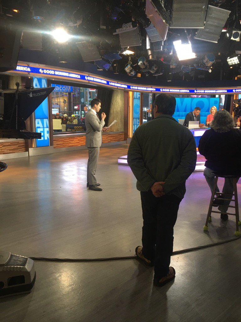 Coming up after my buddy @GioBenitez on @GMA. Gio is getting in the zo...