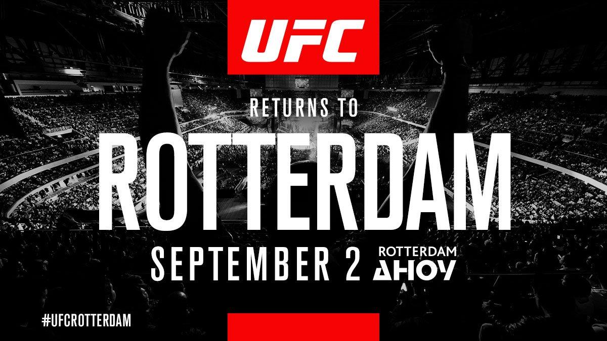 Netherlands!! We're back at #UFCRotterdam on September 2!! 🇳🇱  🎟 http://po.st/Fn28mQ