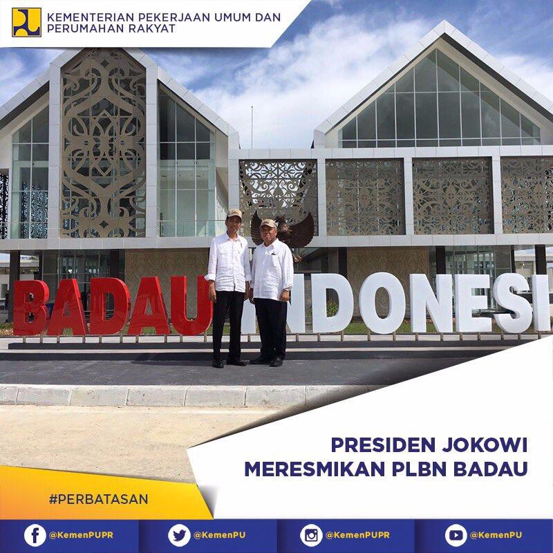 Presiden resmikan PLBN Indonesia - Malaysia di Badau, Kalimantan Barat