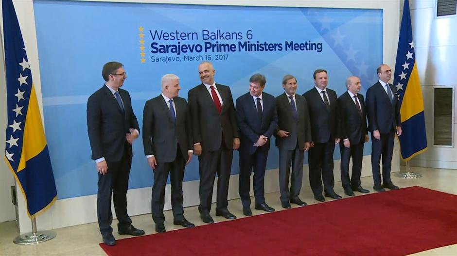 Western Balkan PM Meeting started in Sarajevo. Attending: @avucic @ediramaal Dusko Marković, Emil Dimitriev, @IsaMustafaKS @JHahnEU