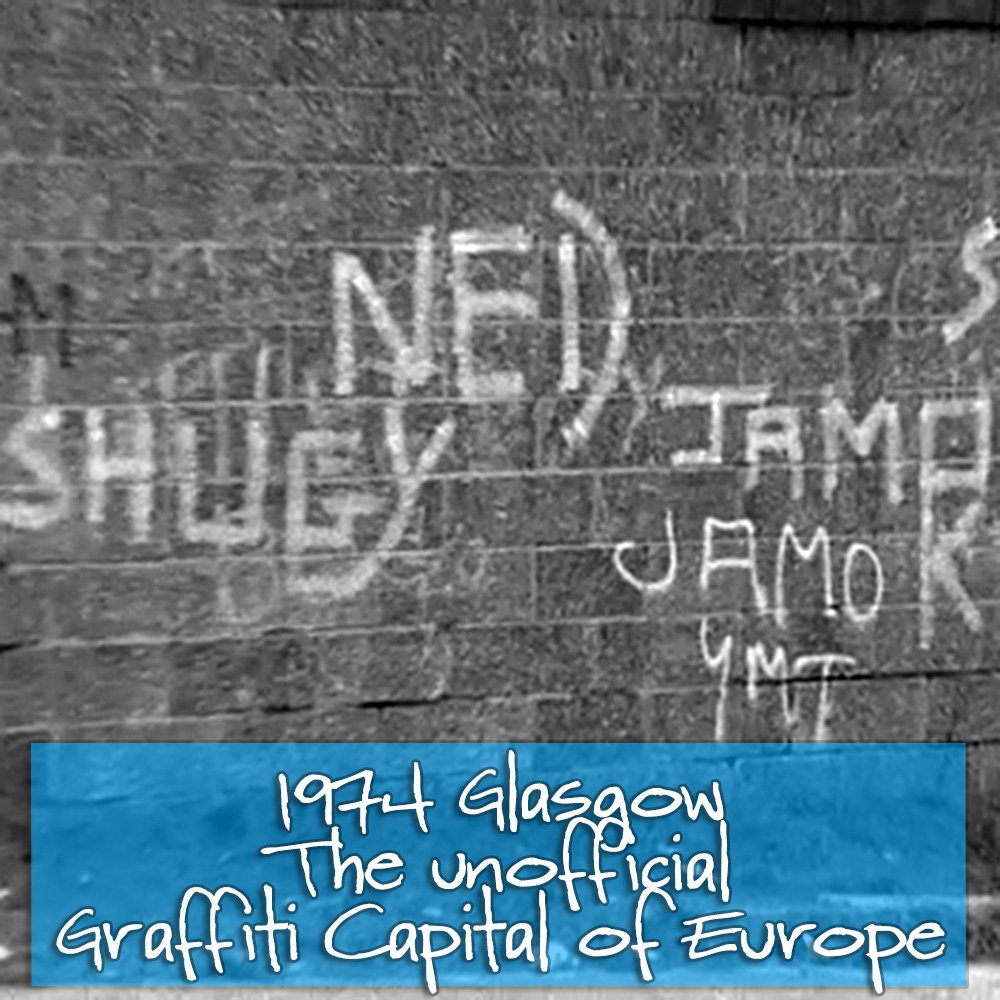 #TBT 1974 - when Glasgow was the unofficial #Graffiti Capital of Europe...  Via @BBCArchive