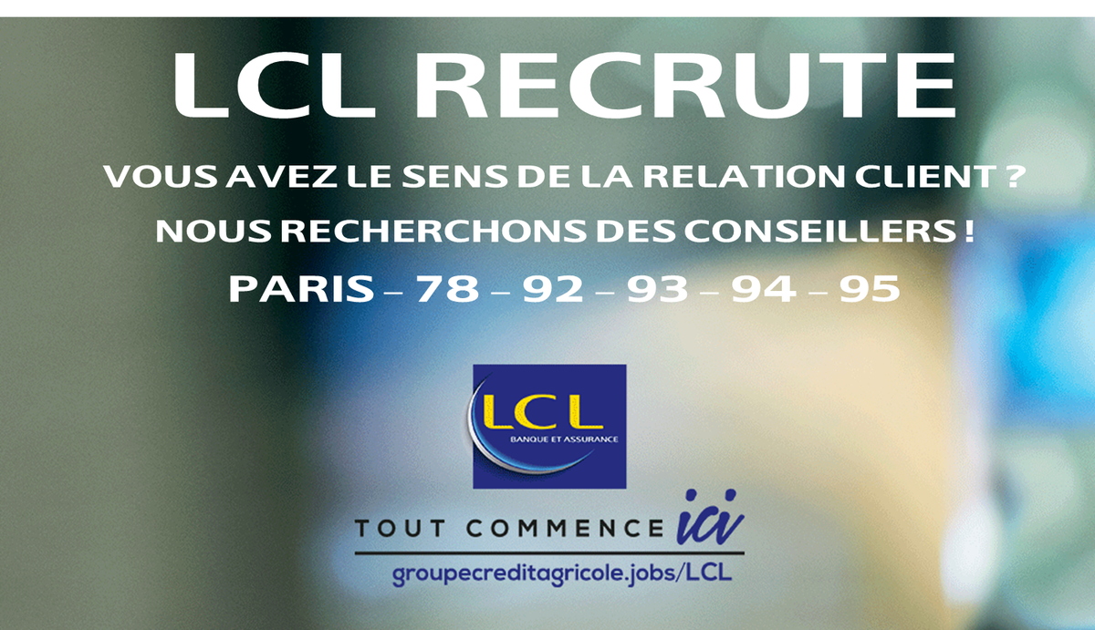 Boissier Thierry On Twitter Recrutement Lcl Recrute Sur L Ile De
