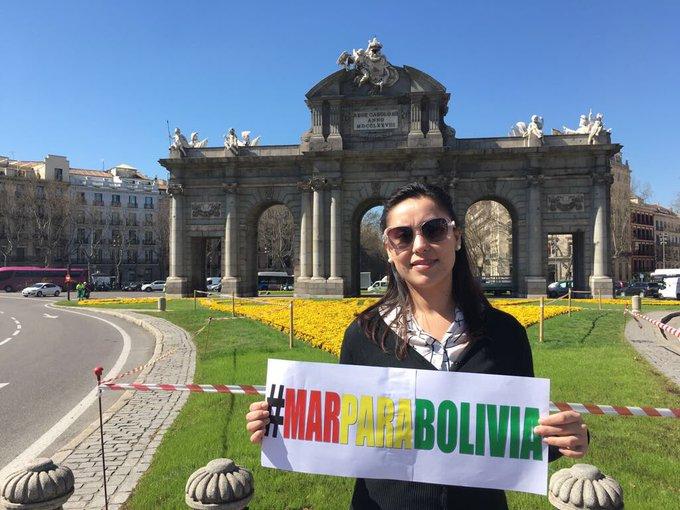 """Marcha en España pidiendo """"Mar para Bolivia"""" C7CrT03W0AAeeUi"""