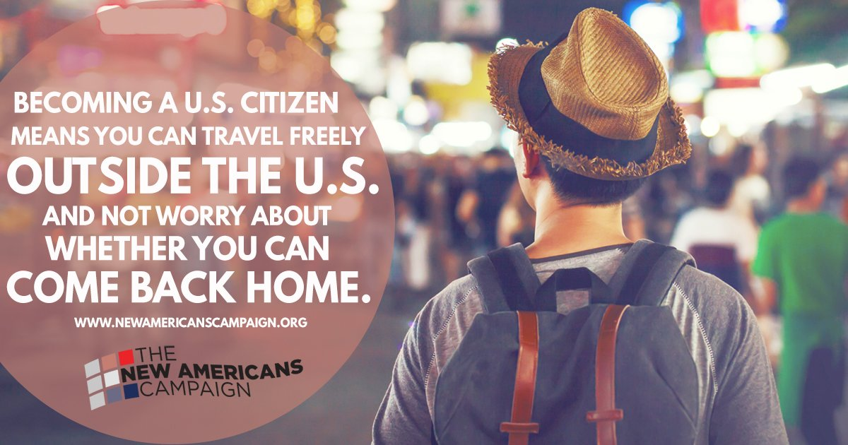 Naturalized citizens are able to travel freely. Attend a #NewAmericans workshop to learn more: https://t.co/bnIsOKf8so https://t.co/fiwsGVixSL