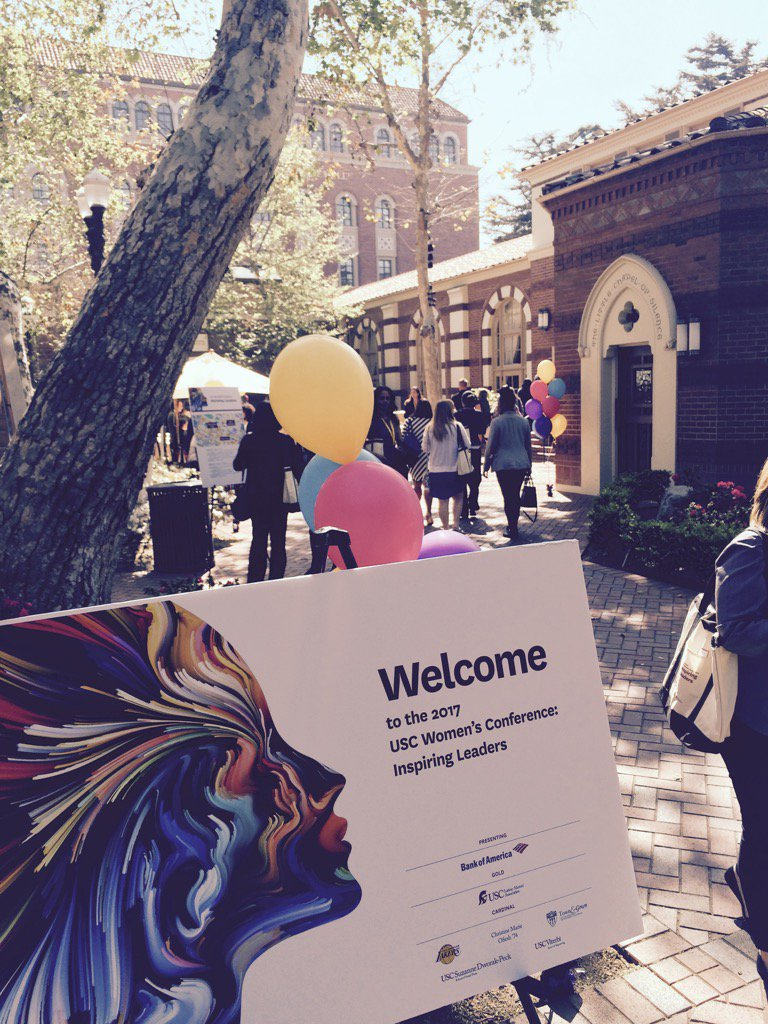 It's a great day at USC! Enjoying this informative Women's Leadership Conference. #USCWC https://t.co/fAWX9wETMN