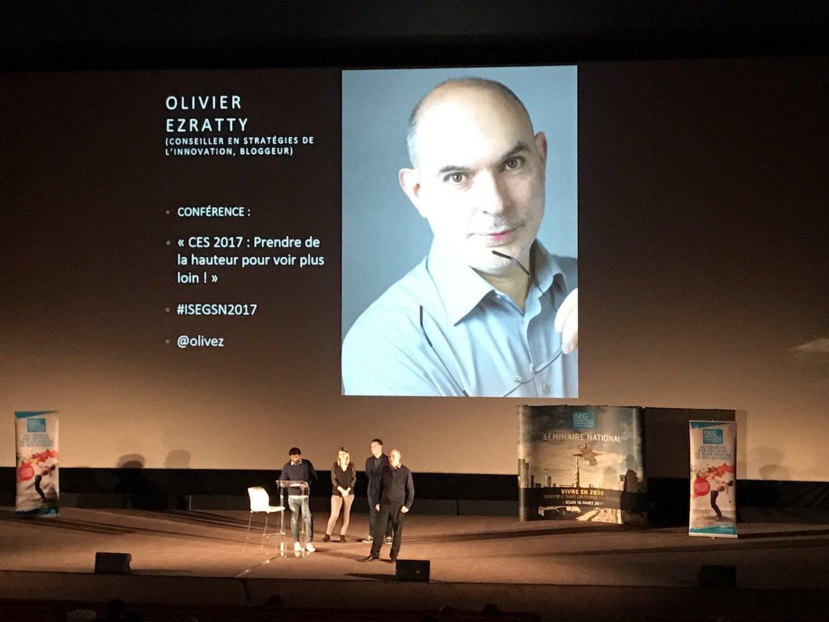 Bienvenue à Olivier Ezratty @olivez #CES2017 #ISEGSN2017 cc @isegmcspa @PirasanthKandia @JustineDDS<br>http://pic.twitter.com/MqcT53jqC1