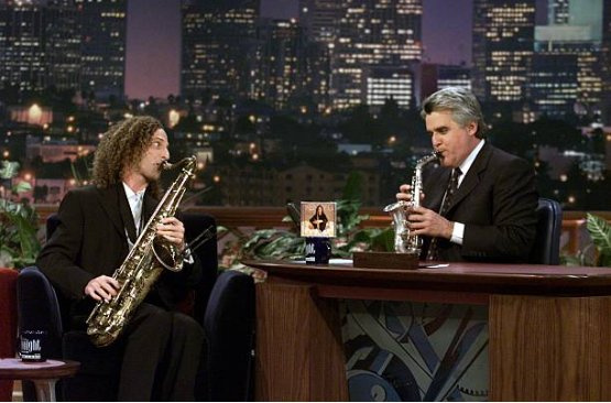 Teaching @jayleno how to toot his own horn. #TBT https://t.co/bbFQzub7...