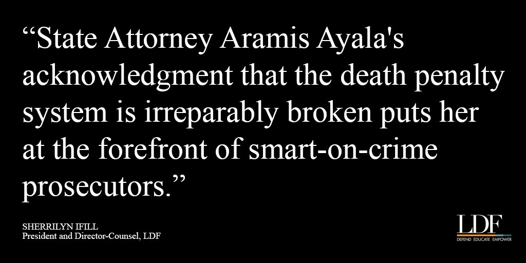 We support FL State Attorney @DonellAyalaEsq in historic decision to not seek #deathpenalty in future capital cases https://t.co/E01hAXe5wm https://t.co/HAAQlz3Up8