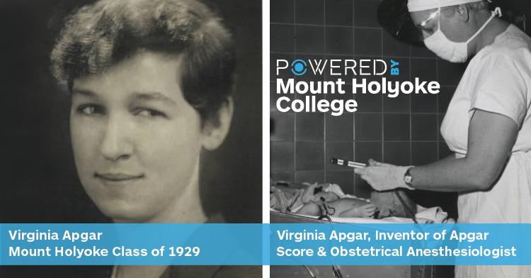 Virginia Apgar, class of 1929, developed the Apgar Score for the health of newborn babies. #PoweredByMountHolyoke https://t.co/a9fPPrJOyp https://t.co/CfUbu1etBZ
