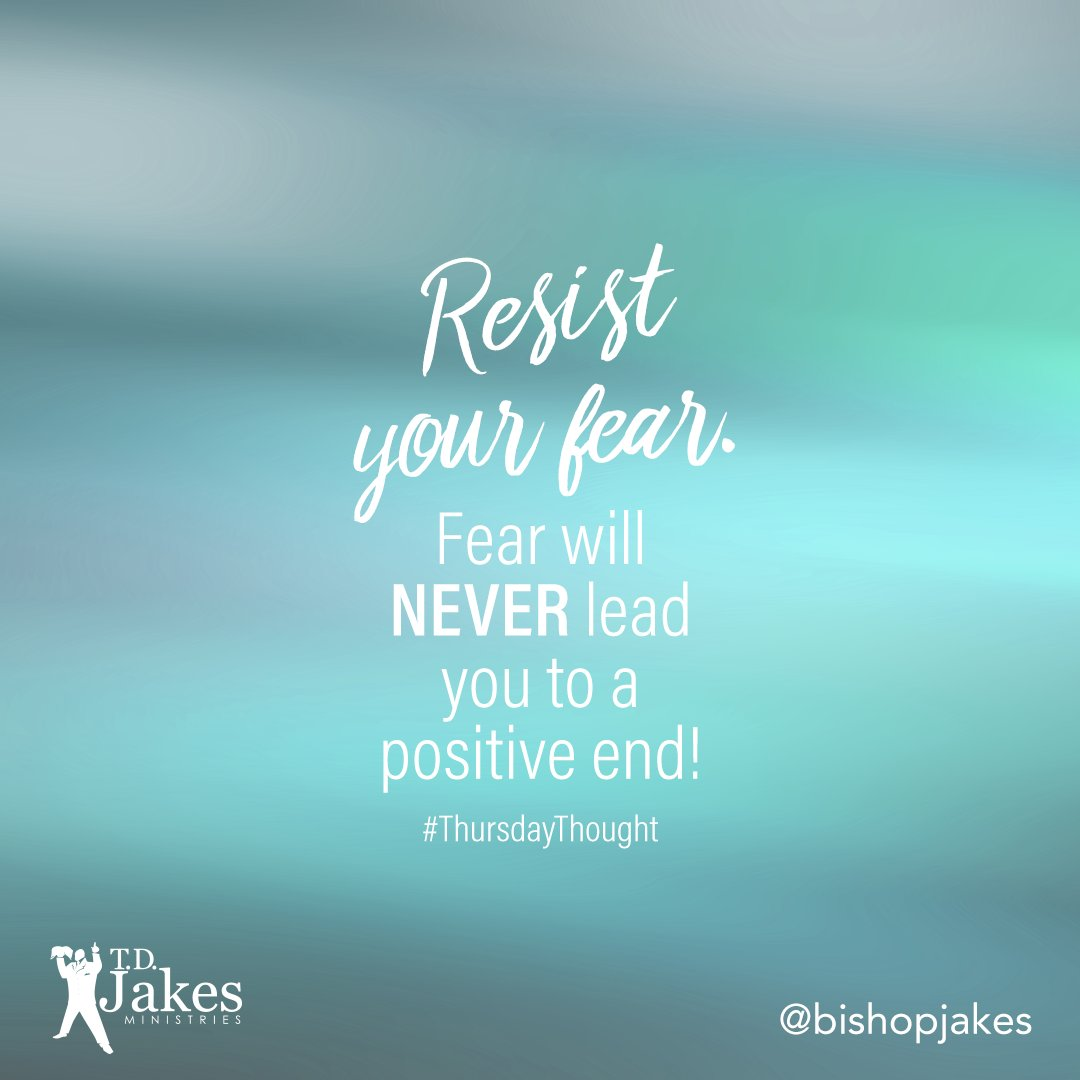 Leave FEAR at the door and fight for your purpose! #ThursdayThought ht...