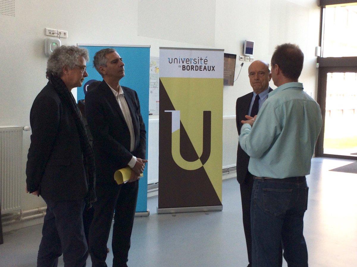 Visite des laboratoires EPOC et @LabAstroBord @CNRS @univbordeaux par @alainjuppe