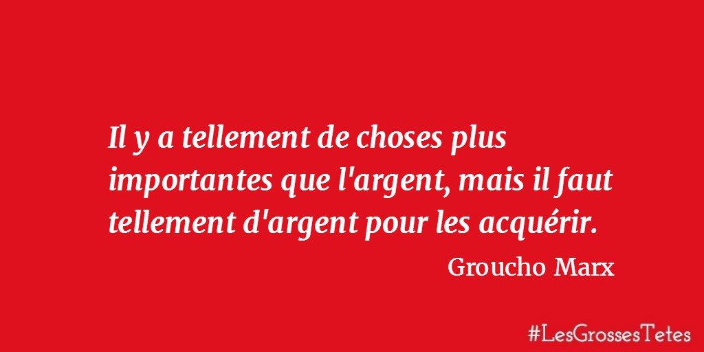 Les Grosses Têtes On Twitter Une Citation De Groucho Marx