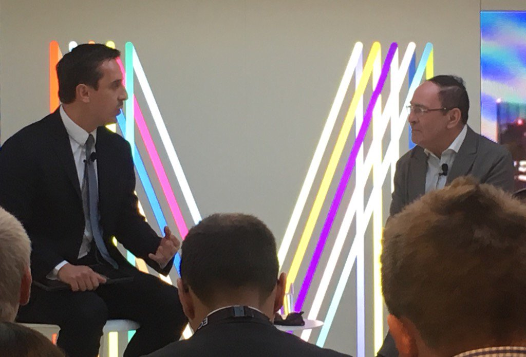 Honoured to be at #Mipim retirement party for Sir Howard Bernstein interviewed by Gary Neville