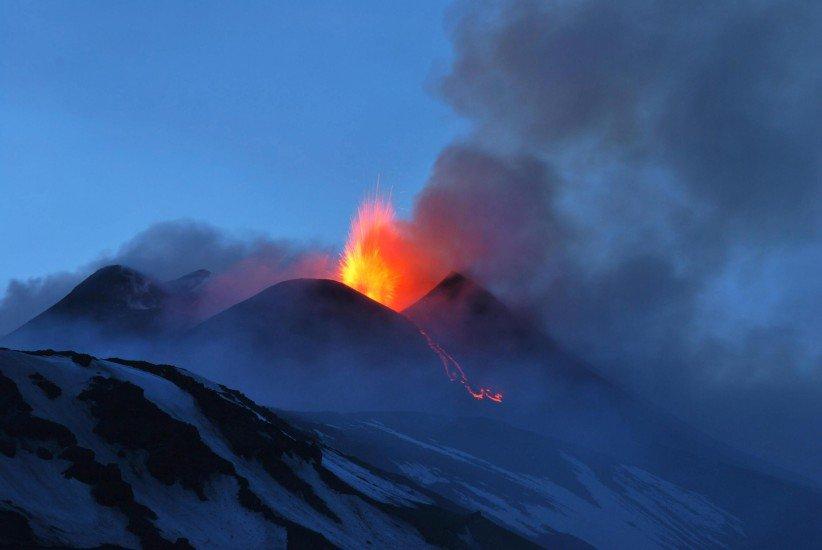 C'è qualche problema per l'eruzione del Vulcano Etna